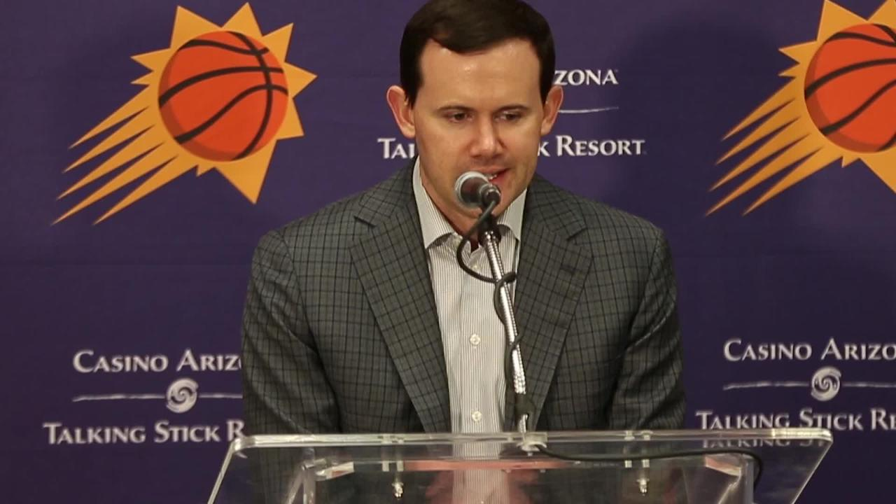 Ryan McDonough, Suns GM, talks about drafting Deandre Ayton, Mikal Bridges, Elie Okobo and George King.