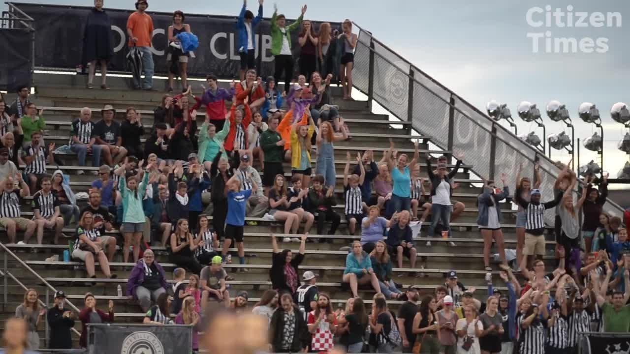Soccer fans at Memorial Stadium