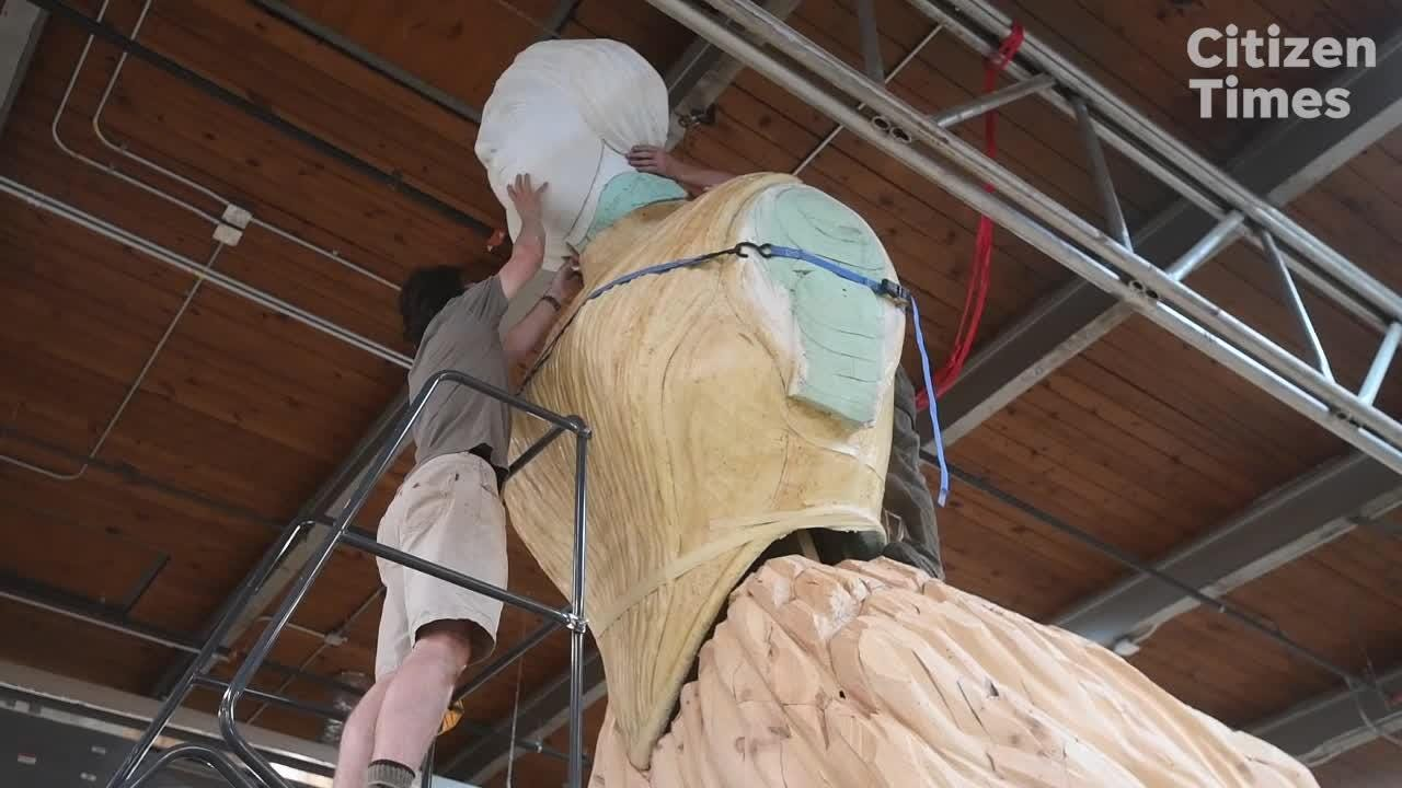 """Mel Chin discusses his animatronic installation, """"Wake,"""" which will be placed in Times Square."""