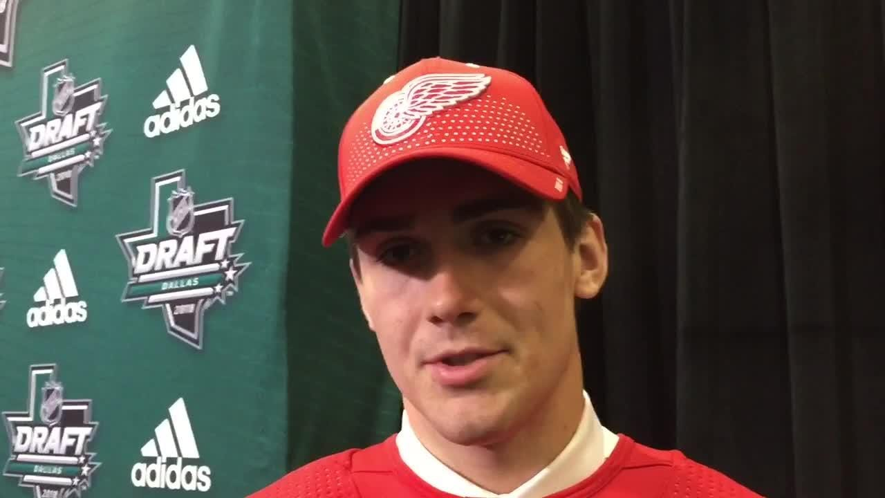 Filip Zadina says he can be a 'warrior' for the Detroit Red Wings, after being drafted No. 6 overall in 2018 NHL draft in Dallas on June 22.
