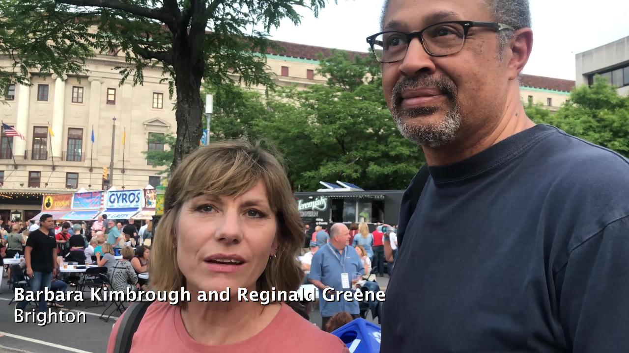 Residents discuss what they enjoy most about the Xerox Rochester International Jazz Festival.