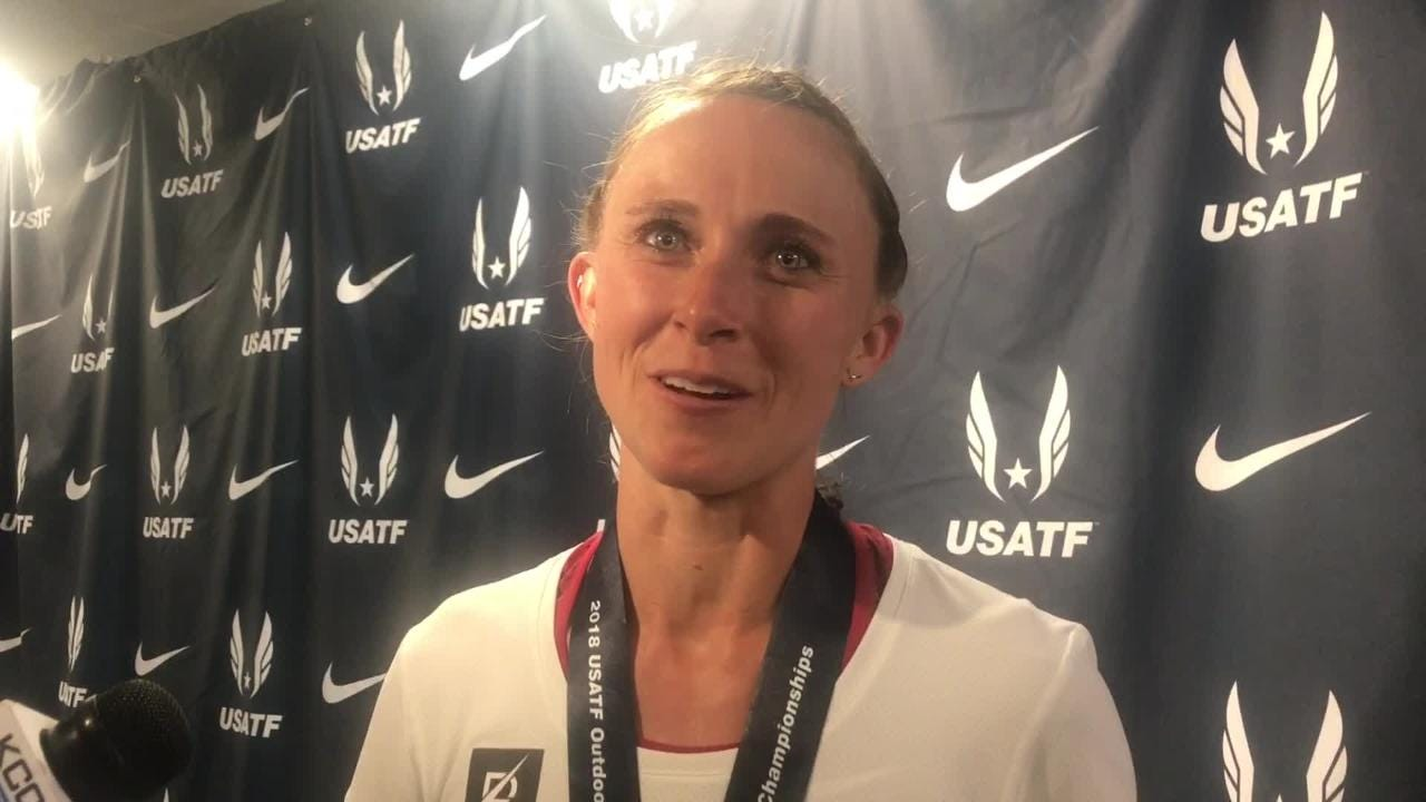 Shelby Houlihan talks about beating Jenny Simpson
