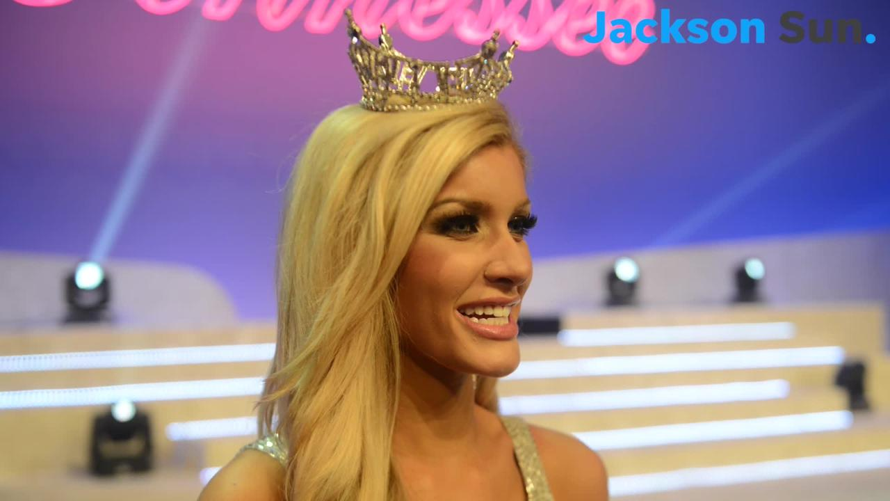 Christine Williamson talks about the moments leading up to being named and crowned Miss Tennessee 2018 in Jackson, Saturday, June 23.