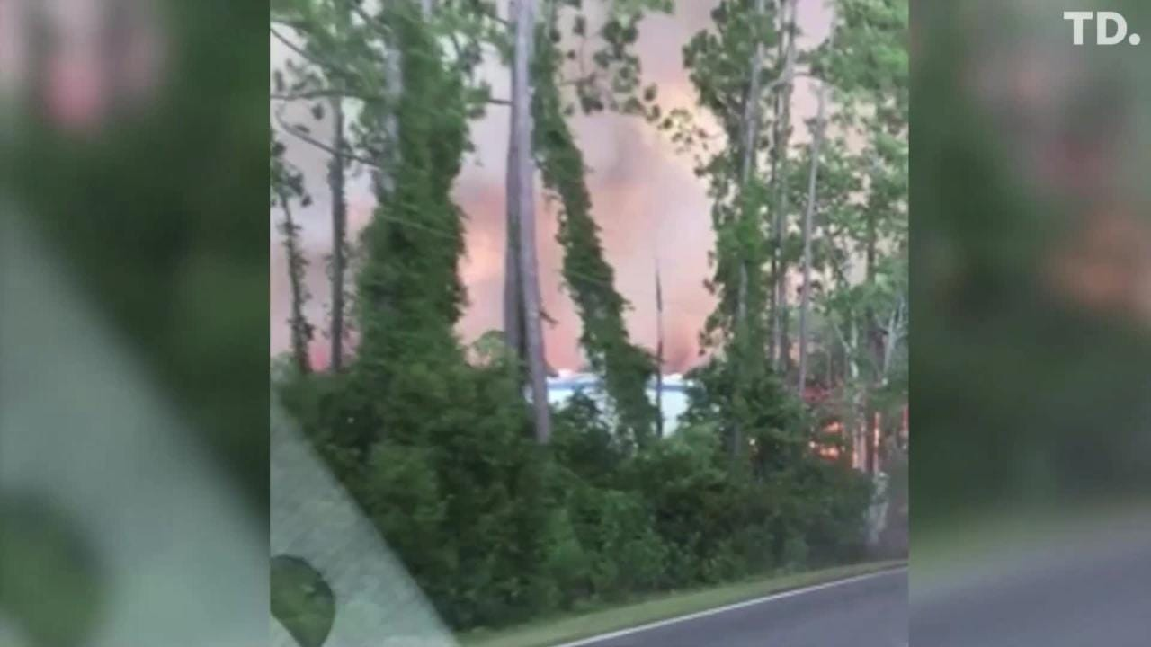 An out-of-control fire has led the Franklin County Sheriff's Office to declare a mandatory evacuations for parts of Eastpoint.