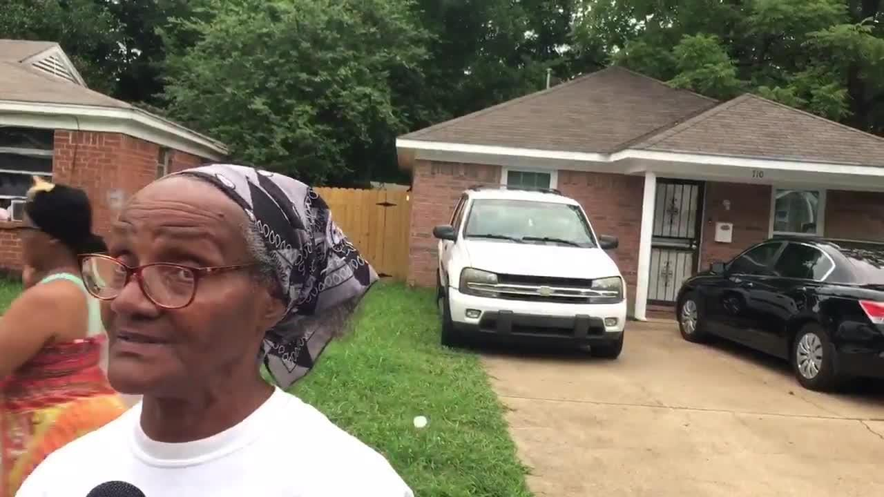 In Orange Mound on the scene of a homicide. The victim's mother Debra Davis discussed the death of her son son, 49-year-old Antone Davis. He was shot to death Monday morning on the sidewalk at Pendleton and Carnes.