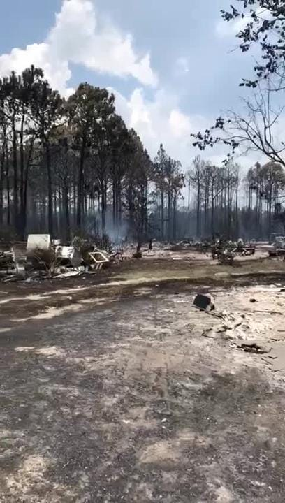 Video shared by Gulf County Fire Departments reveals the serious damage done by the Eastpoint fire.