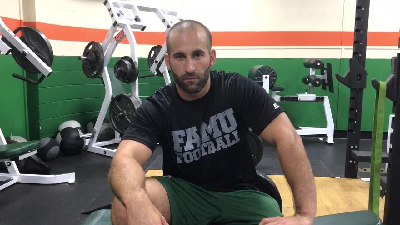 FAMU's Parker Brooks breaks down the first day of summer weightlifting