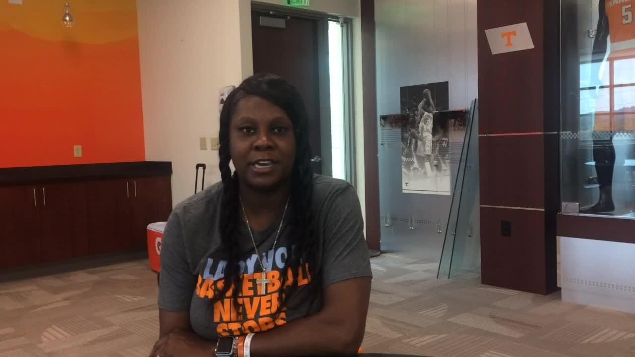 UT assistant coach/Lady Vols alum Bridgette Gordon wants current players to know team history better and have better relationship with former players