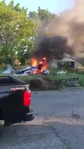 The pilot of a single-engine Cessna 210 that crashed Sunday night on Detroit's east side, killing two people and critically injuring one on June 24.