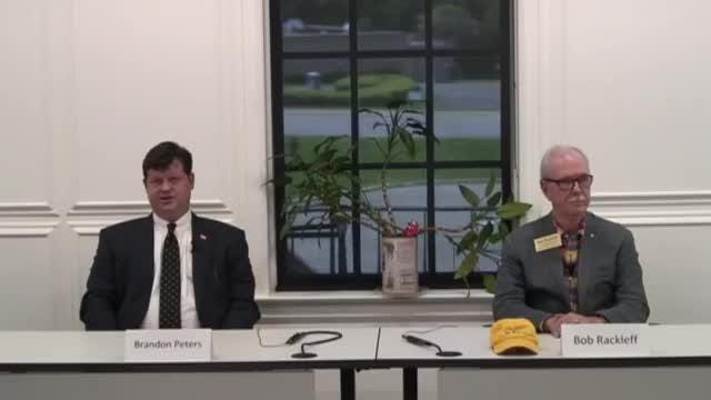 Democratic candidates for the primary election for U.S. House, District 2 – Brandon Peters and Bob Rackleff.