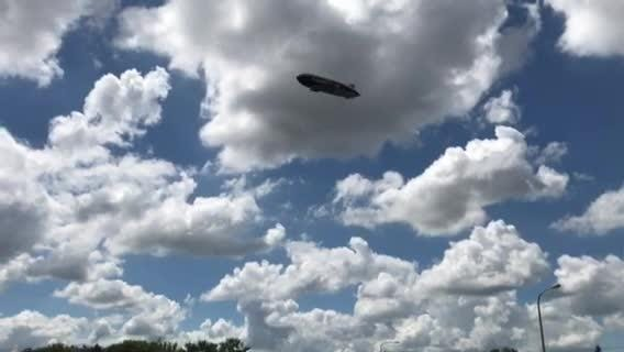 The Goodyear Blimp flew over the Argus Leader building Tuesday afternoon.