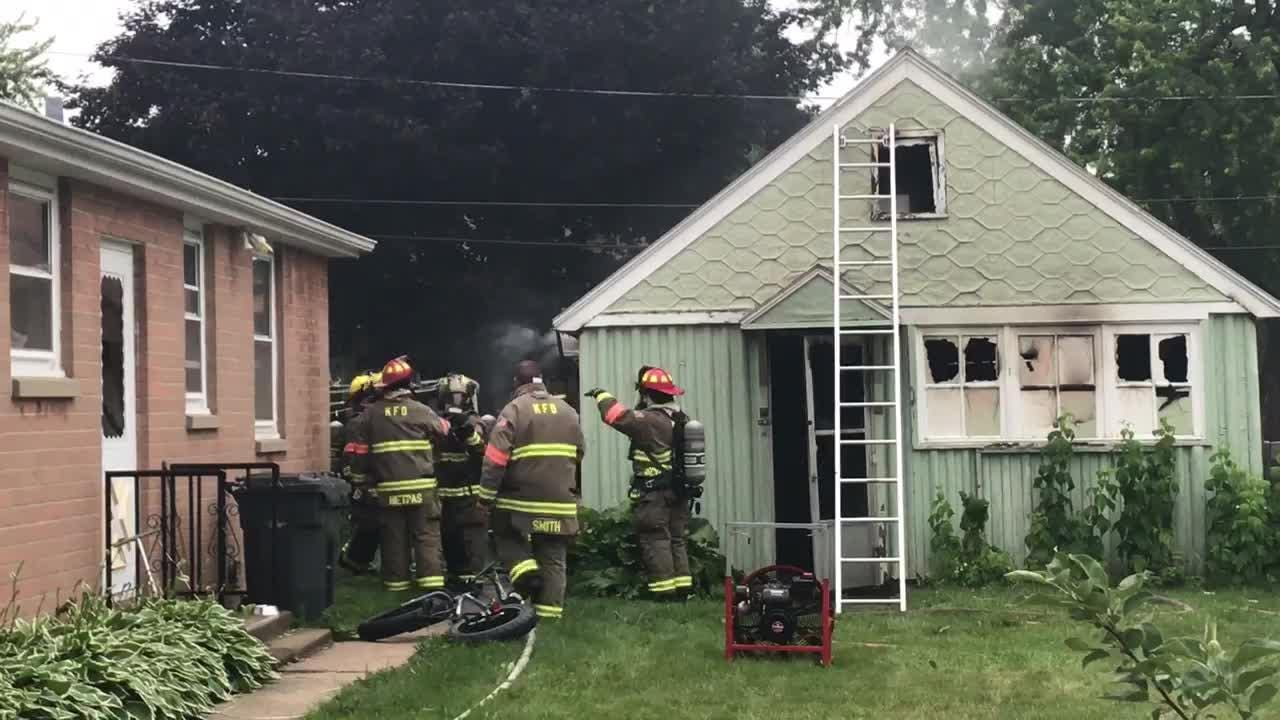 A fire damaged a garage in the 200 block of Birch Street in Kimberly Tuesday.