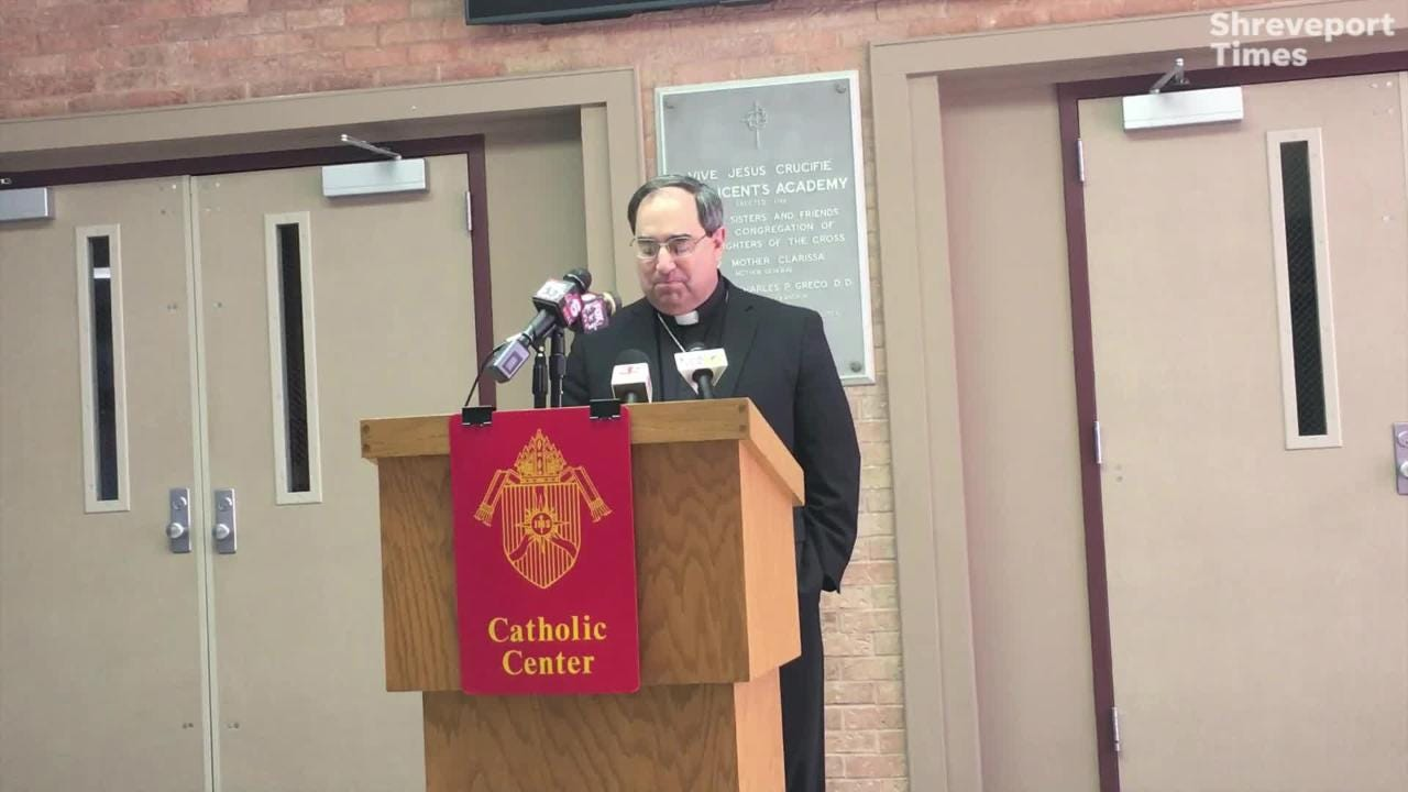 Bishop Michael Duca is leaving the Catholic Diocese Shreveport for an appointment in Baton Rouge.