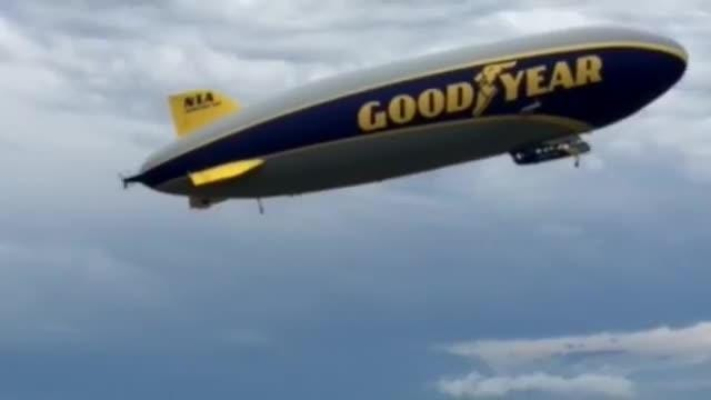 The Goodyear Blimp took off from the Sioux Falls airport on June 27. The blimp had about a dozen trips planned around the c ity.