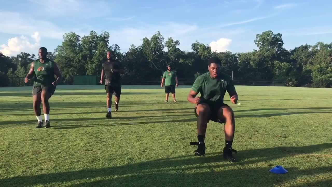 Watch It   FAMU players complete sprint drills