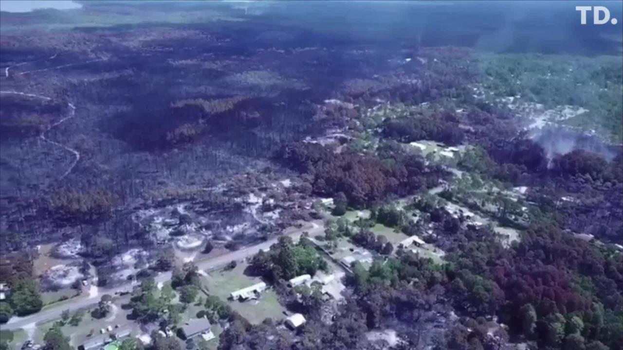 Eastpoint fire drone footage, aerial photos display degree of devastation