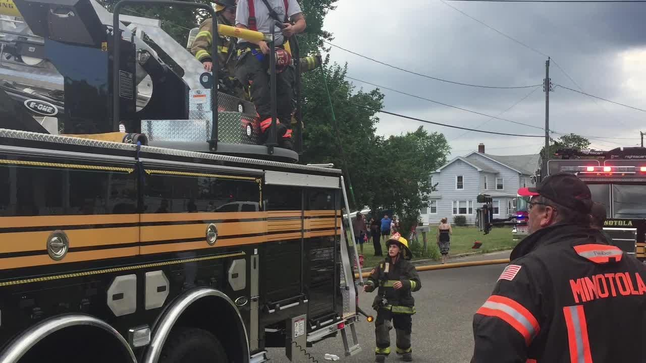 More than a half-dozen residents were displaced by a fire June 28, 2018 in Buena.
