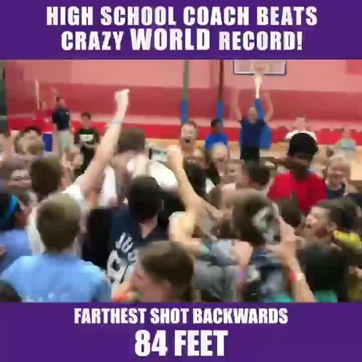 Christ Presbyterian Academy basketball coach Drew Maddux hit the longest backwards shot ever recorded Wednesday at his Nike Basketball Camp.