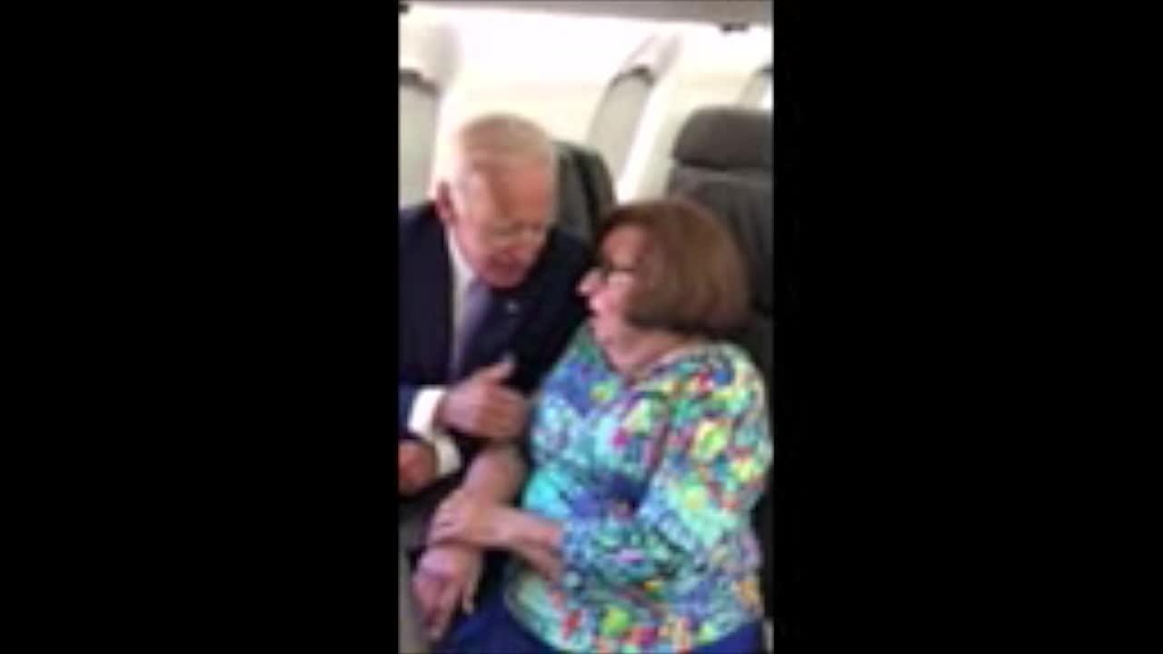 Joe Biden on flight to Cincinnati