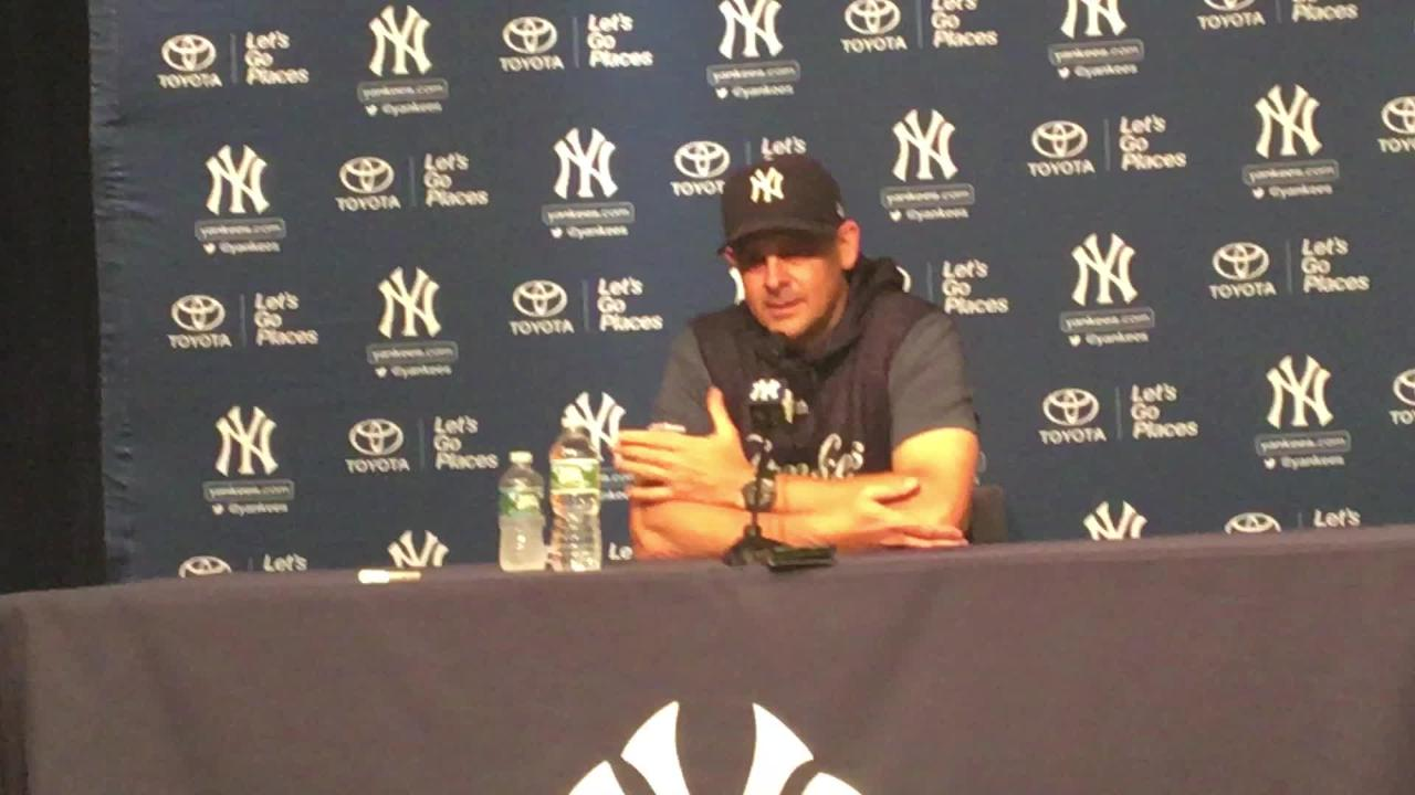 Yankees manager Aaron Boone on facing rival Red Sox