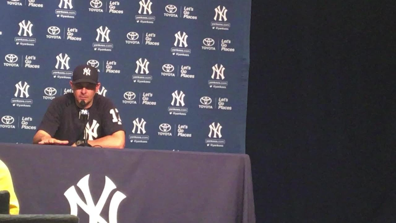 After win over Red Sox, Yankees manaager Aaron Boone on his rookies and Greg Bird