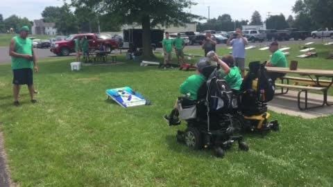 Biglerville boys with genetic disorder throw first bags at cornhole fundraiser