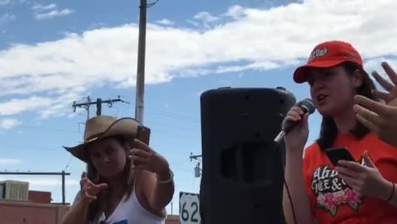 El Paso resident marched at the Families Belong Together rally to protest immigrant family separation and detention by the Trump administration.
