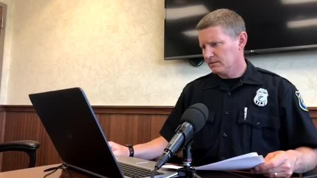 Sioux Falls Police Department spokesman Sam Clemens gives media an update on recent incidents.