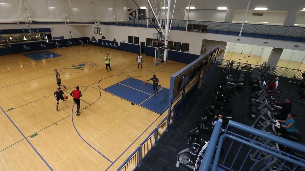 Basketball players try out for Indy's new American Basketball Association team, a semi-professional men's basketball league.