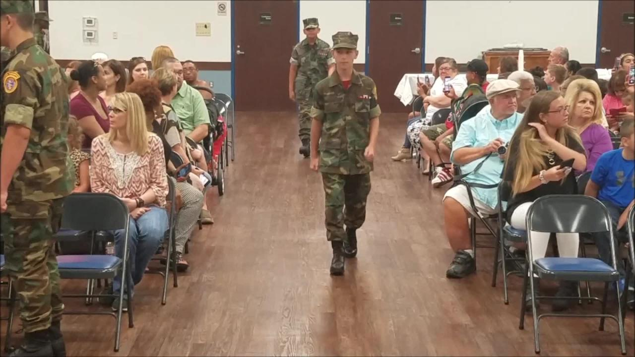 Bossier Sheriff's Office held graduation for its Young Marines Class 36.