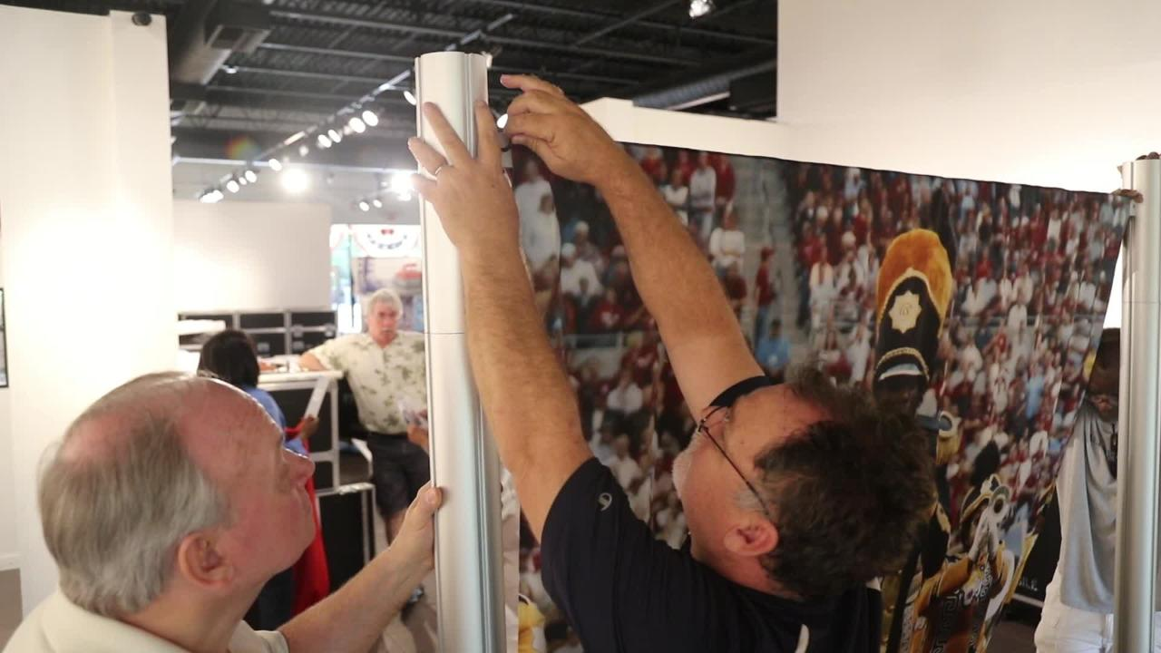 The Smithsonian's Hometown Teams exhibit is on display at the Alliance for the Arts in Fort Myers until August 11.