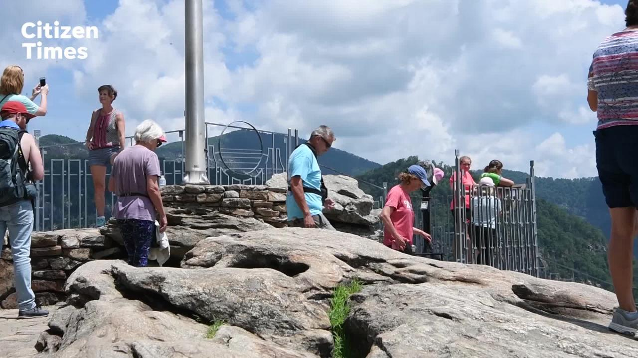 After being down for years the elevator at Chimney Rock State Park is back in operation.