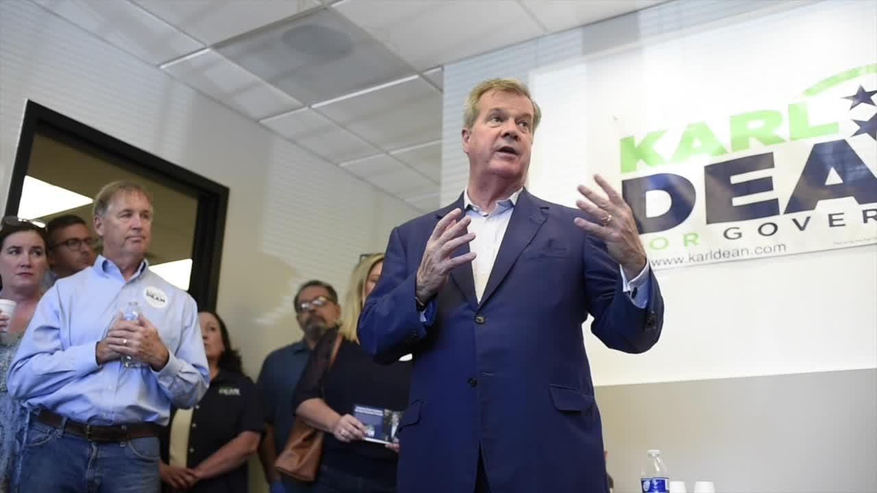 Karl Dean speaks at campaign office opening