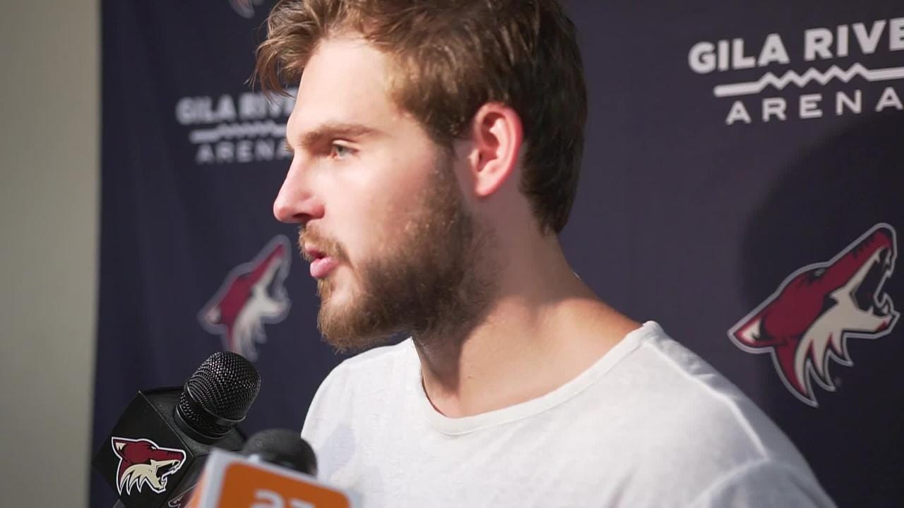 New Coyotes center Alex Galchenyuk discusses his excitement for playing in Arizona and what he brings to the table.