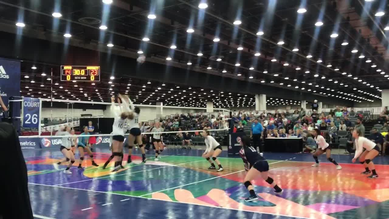Mintonette Sports Volleyball Team plays  against  Orlando Tampa Volleyball Club during the USA Volleyball Girls Juniors on June 28, 2018, in Detroit.