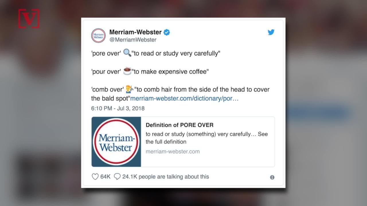 J K  Rowling, Merriam-Webster mock Trump over misspelled 'pour' tweet