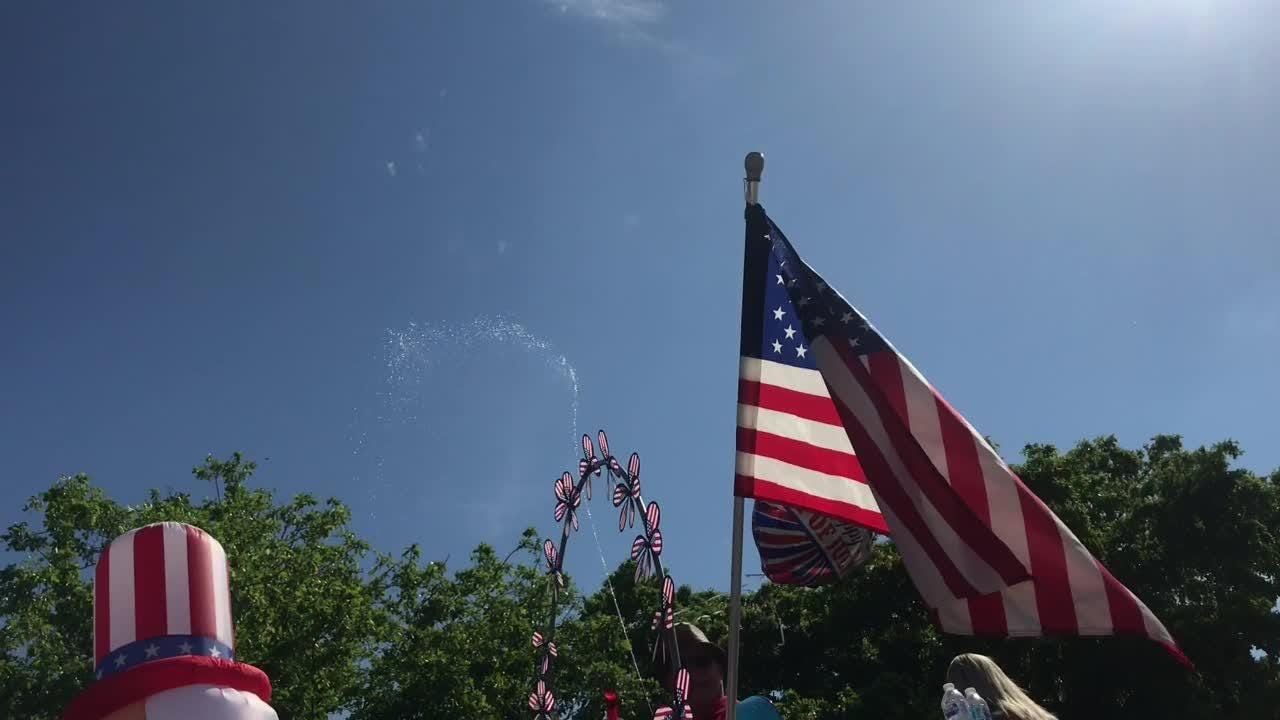 Scenes from Fourth of July parade on Fort Myers Beach