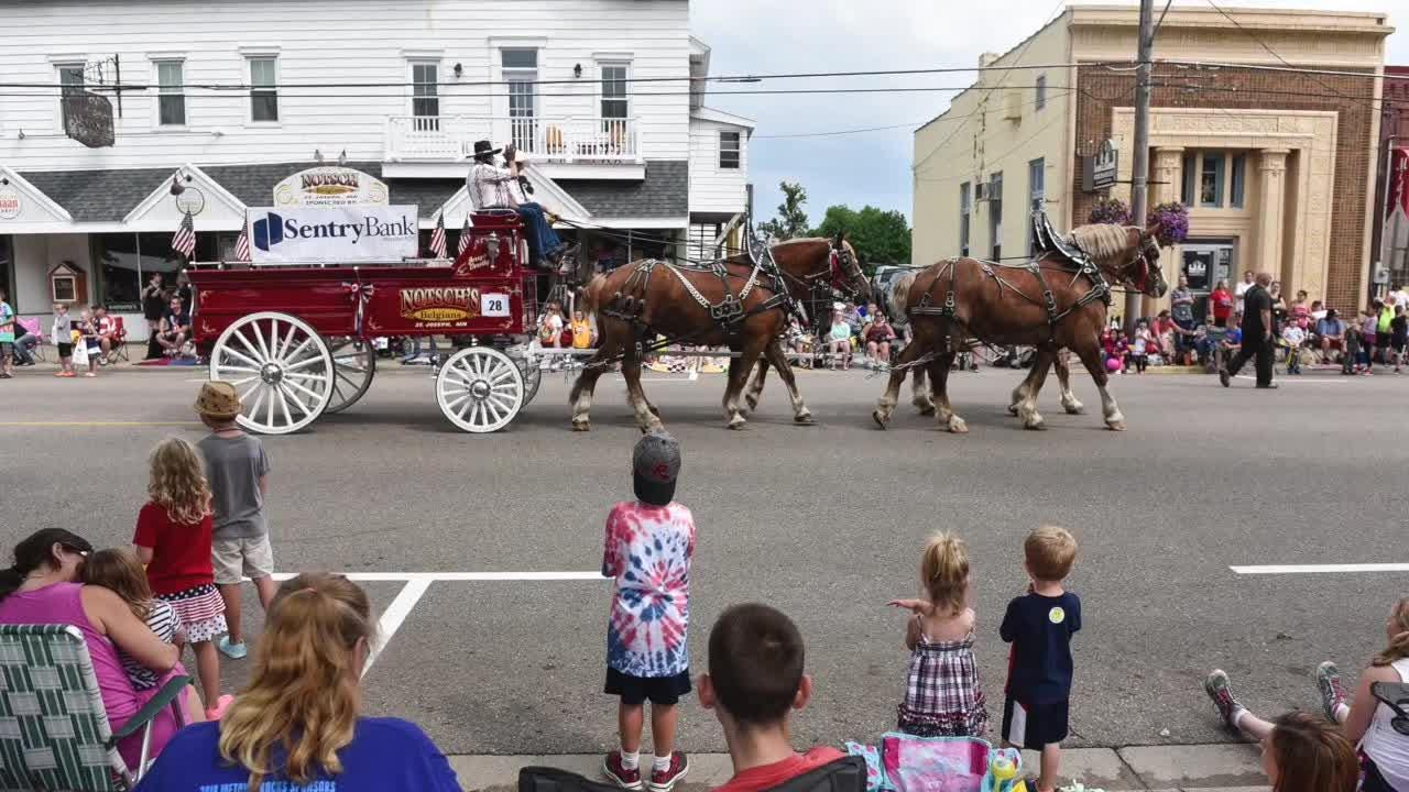St. Joseph's streets turn red, white and blue for parade