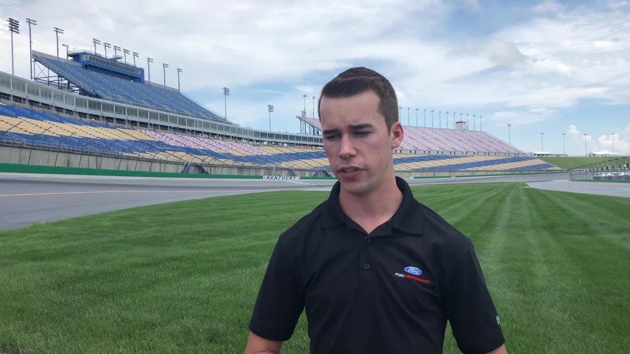 Louisville native Ben Rhodes will contend for the win in the Camping World Truck Series race Thursday, July 12 at Kentucky Speedway