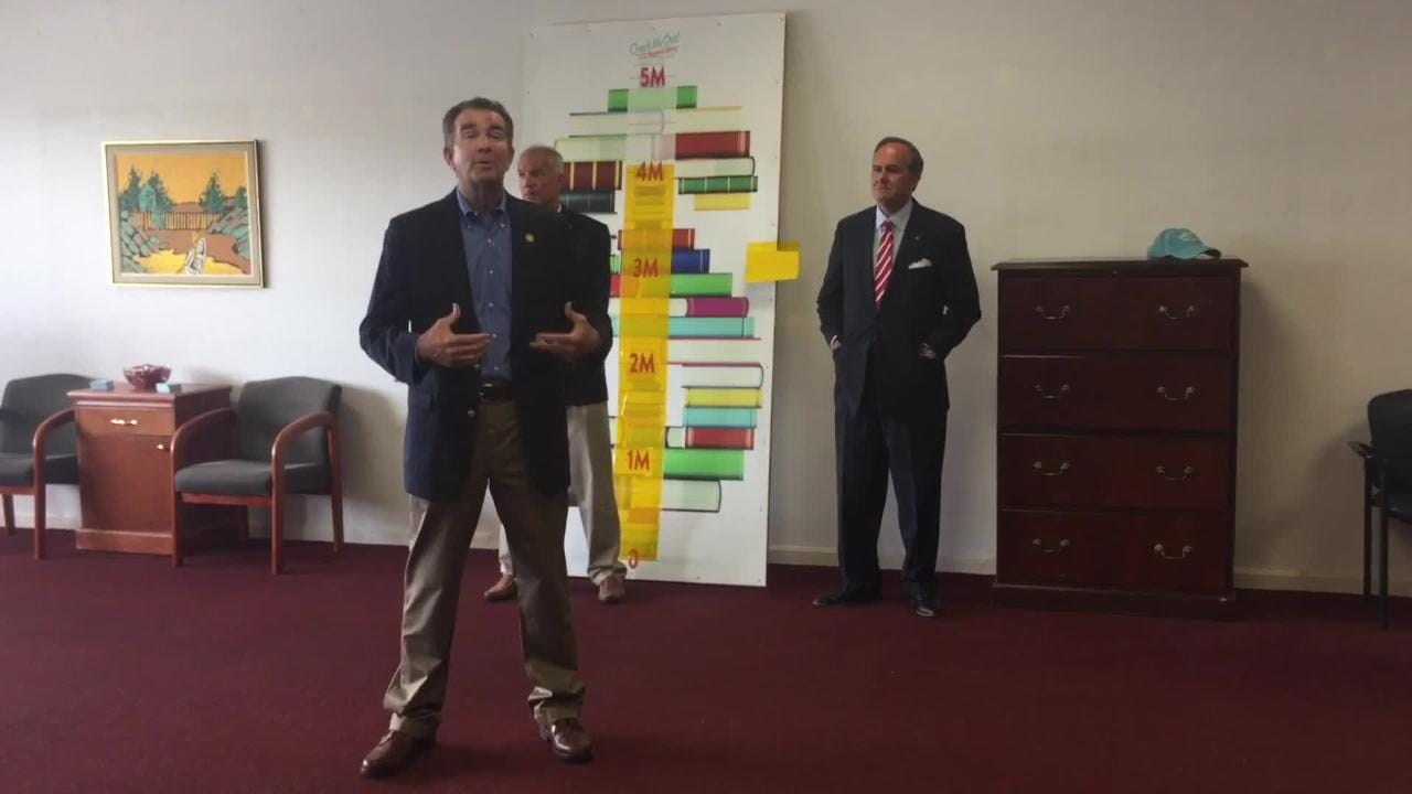 Gov. Ralph Northam announced a $1M allocation for the Eastern Shore of Virginia Heritage Center at the new regional library.