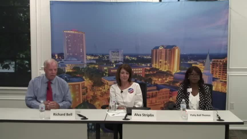 Interviews with Editorial Board: School Board District 1 (Richard Bell, Alva Striplin and Patty Ball Thomas)