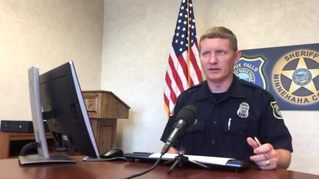 Sioux Falls police give updates on recent crime during the daily police briefing