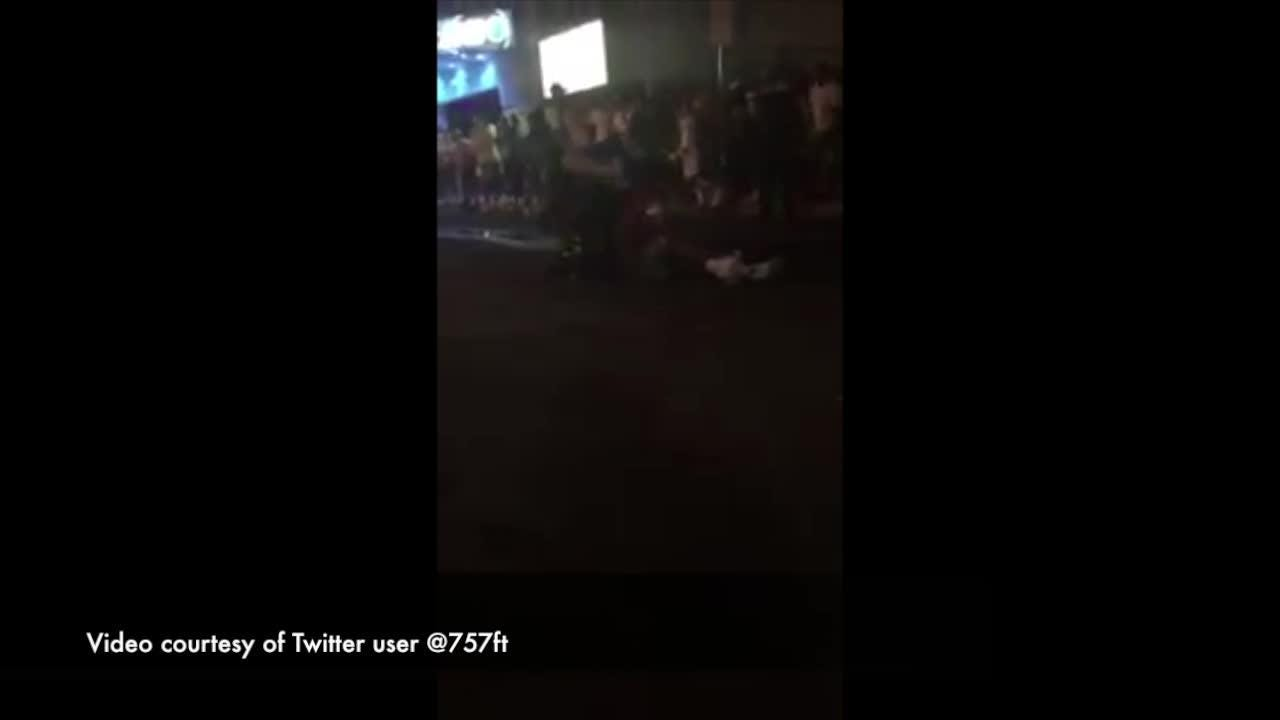 This video, which was initially posted to Twitter, shows an officer on the ground with a boy, striking him. OCPD is investigating the incident.