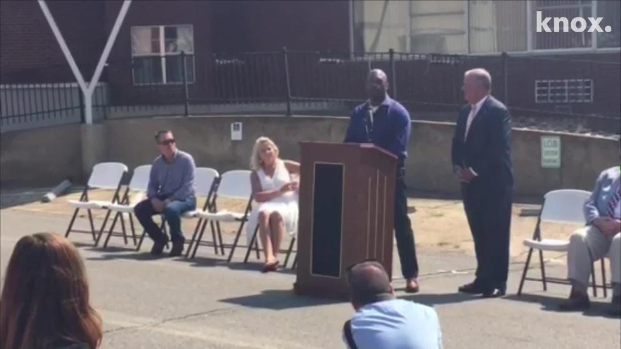 A ceremony was held in Lenoir City on Friday at the site of the future Bussell Island Distilling & Brewing Co.