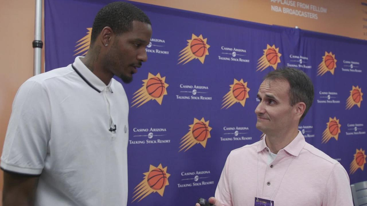 azcentral sports' Doug Haller talks with new Suns player Trevor Ariza about his leadership style, players he's learned from and the playoffs.