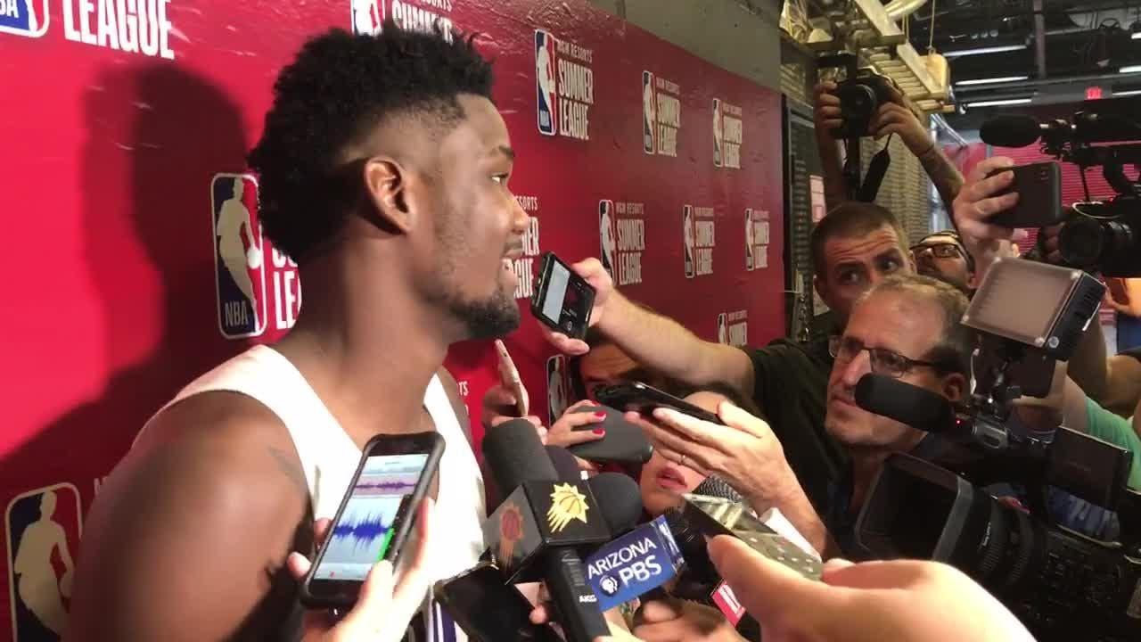 Deandre Ayton talks about his first game for the Suns, a victory over the Mavericks in Summer League
