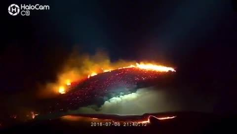 Firefighters battled a brush fire that sparked on Peavine Mountain Friday night.