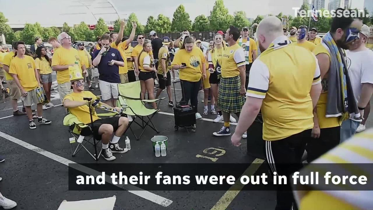 FC Cincinnati was in Music City on Saturday to take on Nashville SC and Nashville's fans turned out in force to root for their team.
