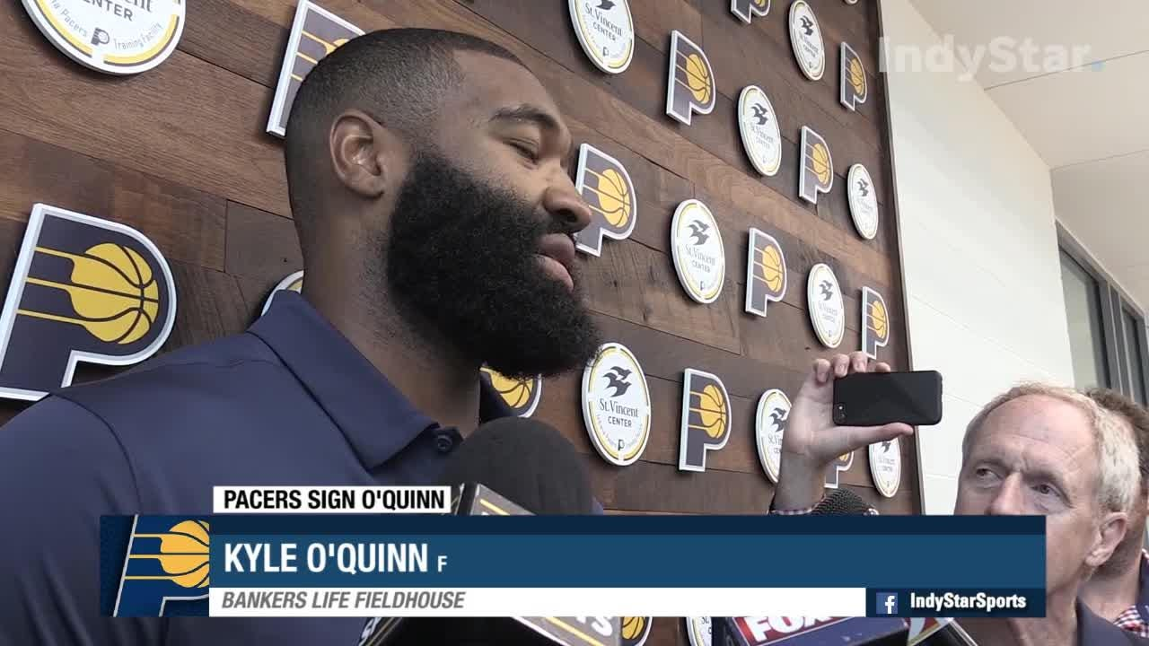 The Indiana Pacers sign free agent  forward Kyle O'Quinn Monday, July 9, 2018.