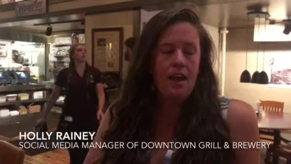 Holly Rainey, social media/marketing manager of Downtown Grill and Brewery explains how the construction on South Gay Street could affect business.